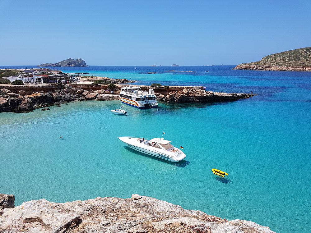 Ibiza Traum im Mittelmeer.
